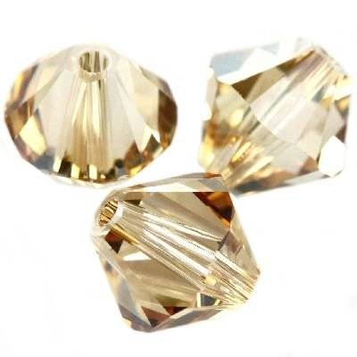 Swarovski bicone beads crystal golden shadow 8 mm