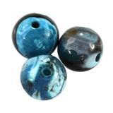agate dragon eye aqua round 6 mm dyed stone