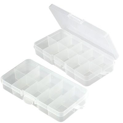 pudełko plastikowe z przegródkami 6.5 x 13 x 2.1
