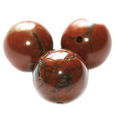 red jasper beads 8 mm / semi-precious stone