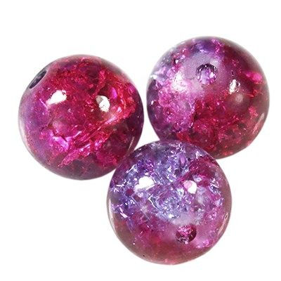 Crackle Perlen rosa 8 mm