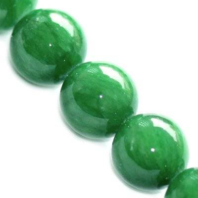 marble beads dyed glassy green 12 mm / natural stone dyed