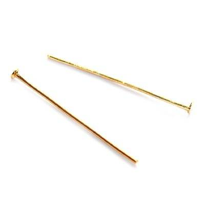 head pins 2.6 cm gold color