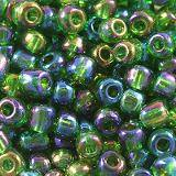 glass seed beads green 3.5 mm