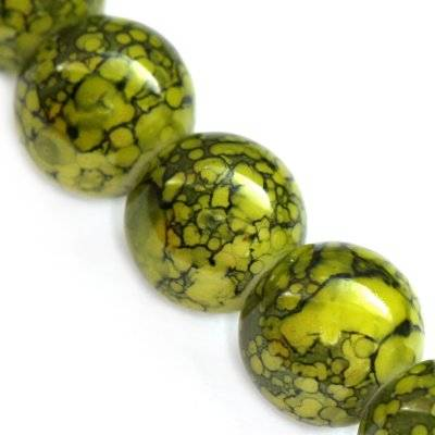 Perline rivestite all'olive 12 mm