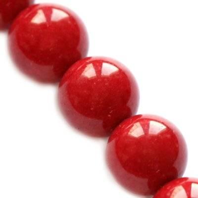 grön jade runda pärlor rubin 6 mm