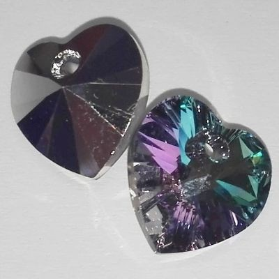 Swarovski heart pendants crystal vitrail light 10.3 x 10 mm