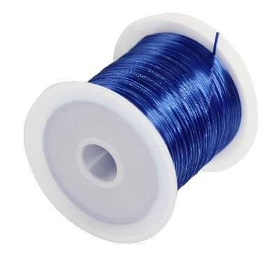 fil élastique bleu 0.6 mm