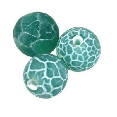 fire agate beads fire green 6 mm / semi-precious stone