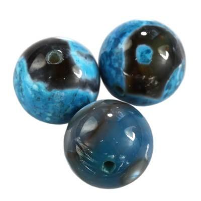 agat smocze oko lazurowy 8 mm kamień naturalny barwiony