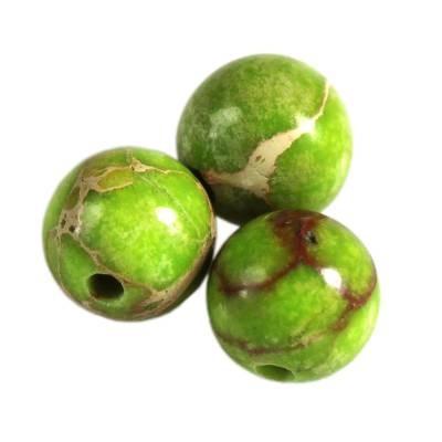 imperial jasper round green 6 mm naravni obarvan kamen