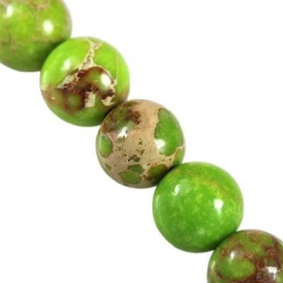jaspis cesarski kule zielone 6 mm kamień naturalny barwiony