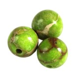 jaspis cesarski zielone 6 mm kamień naturalny barwiony