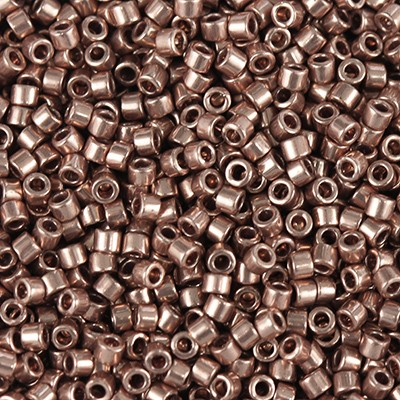Miyuki Delica Beads plated copper 1.6 x 1.3 mm DB-40