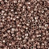 Miyuki biseris Delica Beads plated copper 1.6 x 1.3 mm DB-40