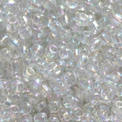 glass beads transparent 2 mm