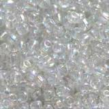 perles de graine de verre transparent 2 mm