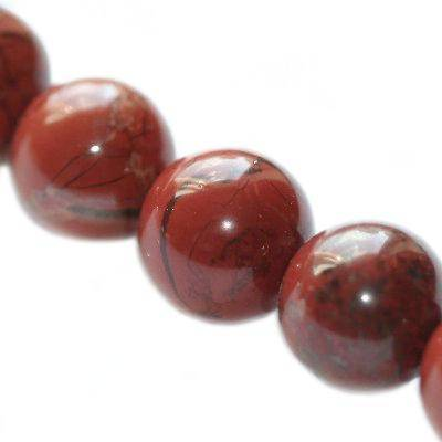 red jasper beads 10 mm / semi-precious stone