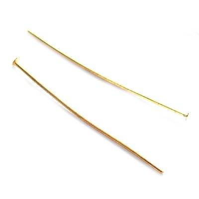 head pins 3.8 cm gold color
