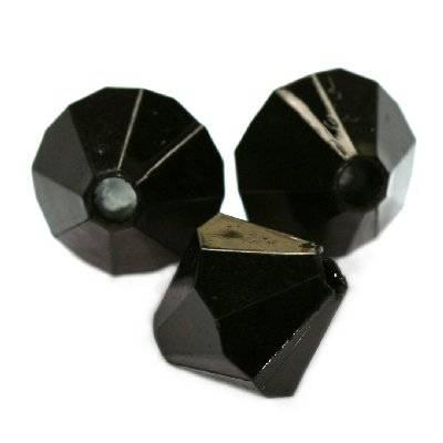 cristalli in plastica di diamante nere 12 mm
