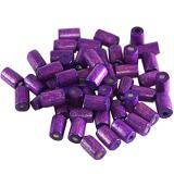 tubes wooden beads amethystine 8 x 4 mm