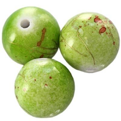 sfere in plastica ricercate verdi  12 mm