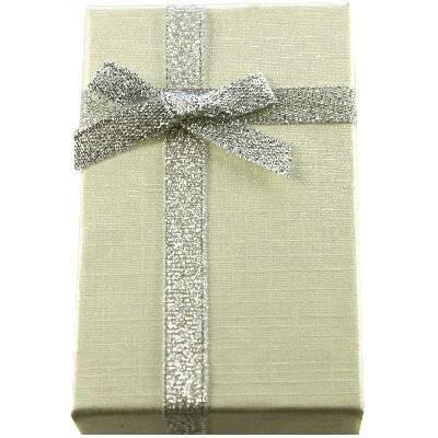 pudełeczko na kolczyki kremowe 5 x 8 x 2.5 cm