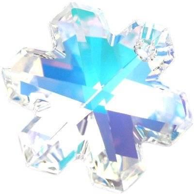 Swarovski snowflake pendants crystal ab 20 mm