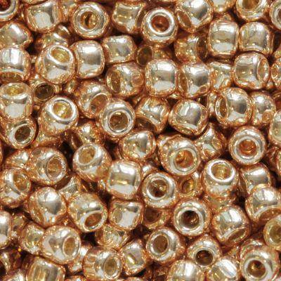 Toho perlen round permafinish - galvanized rose gold 2.2 mm TR-11-PF551