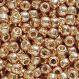 Toho beads round permafinish - galvanized rose gold 2.2 mm TR-11-PF551