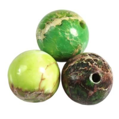 jaspis cesarski kule zielone 8 mm kamień naturalny barwiony