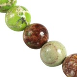 imperial jasper round green 8 mm dyed natural stone