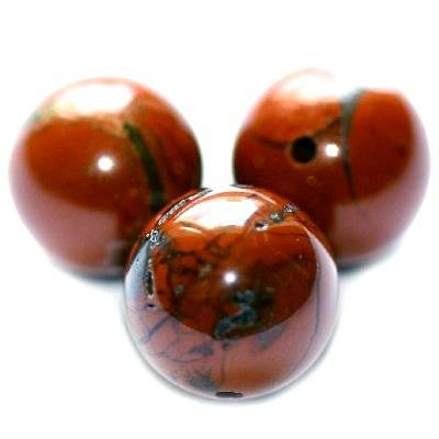 red jasper beads 12 mm / semi-precious stone