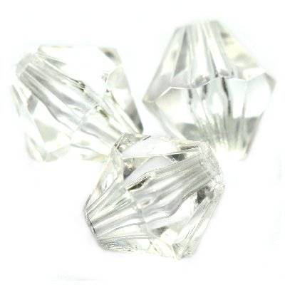 cristalli in plastica di diamante trasparenti 14 mm