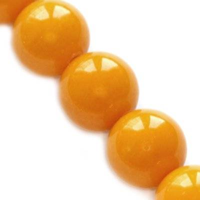 jade mountain beads amber 6 mm / semi-precious stone dyed