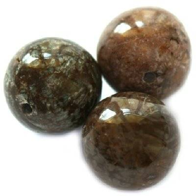 boules obidienne brune neigeuse 8 mm