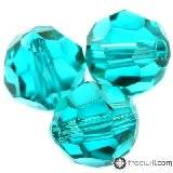 Swarovski round beads blue zircon 4 mm