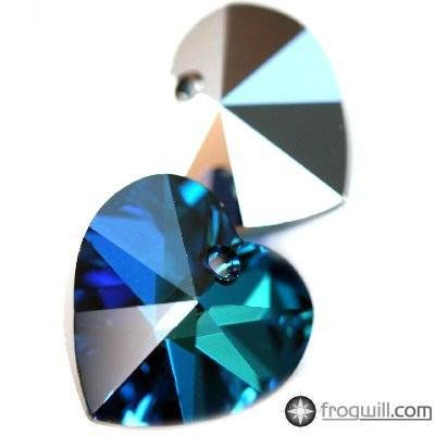 Swarovski heart pendants crystal bermuda blue 14.4 x 14 mm