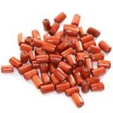 tubes wooden beads red 8 x 4 mm