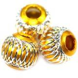 round aluminium beads gold 14 mm