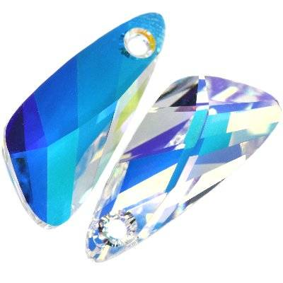 Swarovski wing pendants crystal ab 23 mm