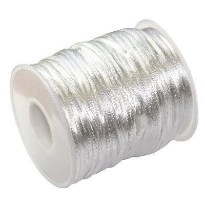 corde en satin blanche 2 mm