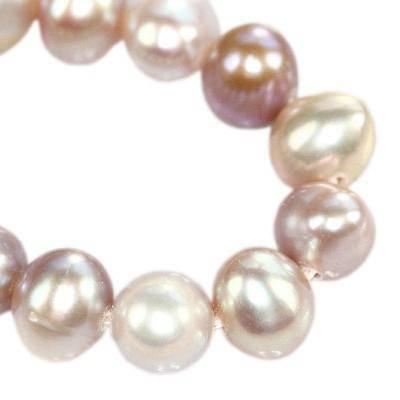 pareltjes naturel rond, leliewit 5-6 mm