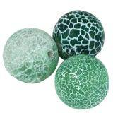 round fire agate green 10 mm