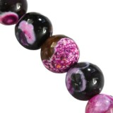 agate dragon eye pink round 4 mm pierre teinte