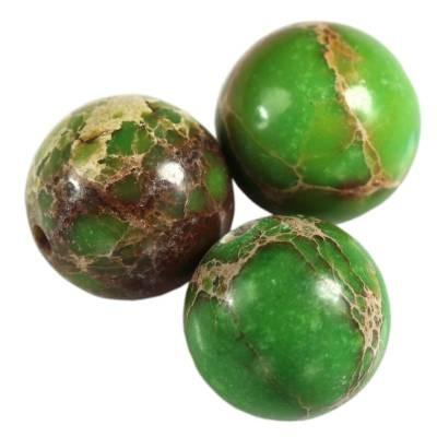 jaspis cesarski kule zielone 10 mm kamień naturalny barwiony