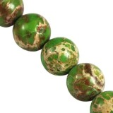 imperial jasper round green 10 mm dyed natural stone