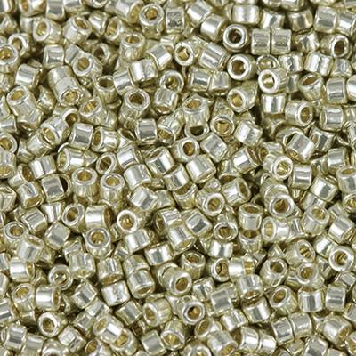 Miyuki Delica Beads duracoat galvanized silver 1.6 x 1.3 mm DB-1831
