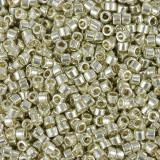 Miyuki perler Delica duracoat galvanized silver 1.6 x 1.3 mm DB-1831