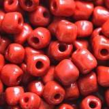 glass seed beads fire brick red 3.5 mm